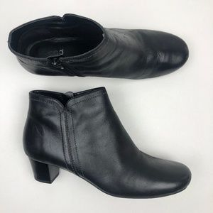 ecco zip ankle leather booties